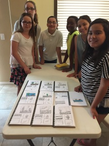 GS Troop 1124 Tangle Journals July 2015