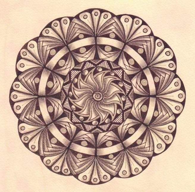 Sepia Sparkle Mandala