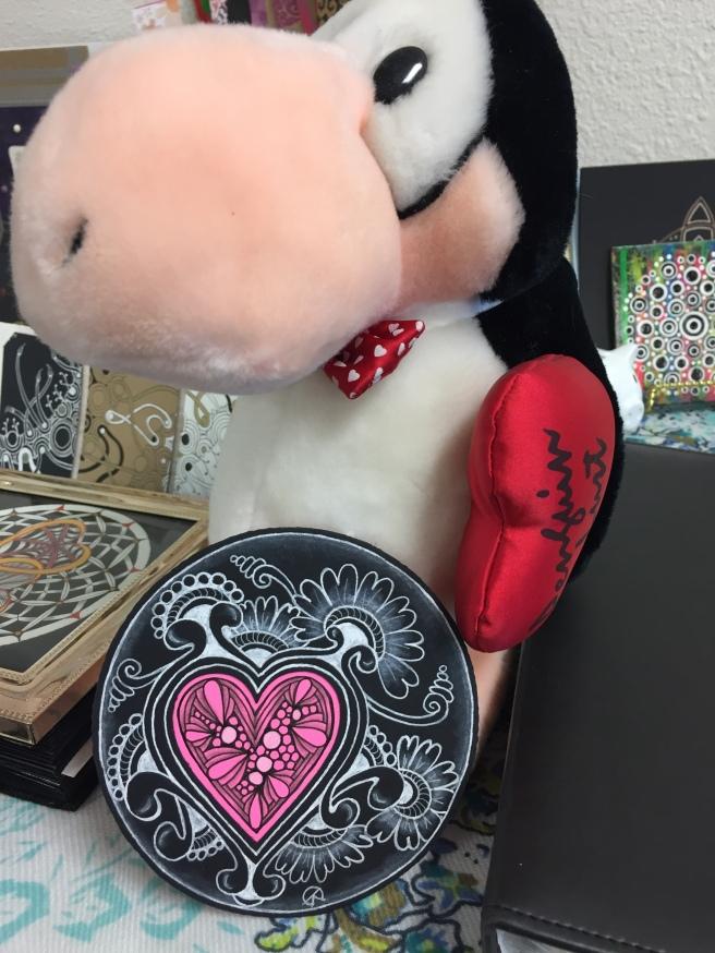 Penguin Lust Peeping Heart